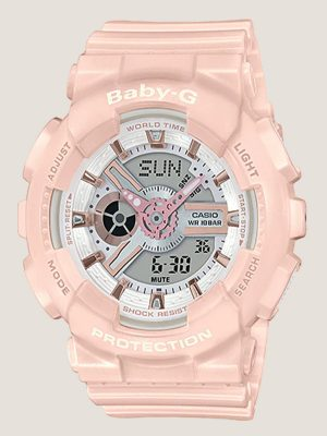 đồng hồ nữ baby g ba-110rg-4adr