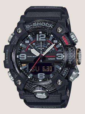 đồng hồ đeo tay g shock gg-b100-1adr_master giá rẻ chính hãng, có cấu trúc bảo vệ lõi carbon siêu nhẹ, có bộ tứ cảm biến la bàn nhiệt kế cao độ kế và đếm bước chân, có kết nối bluetooth với điện thoại